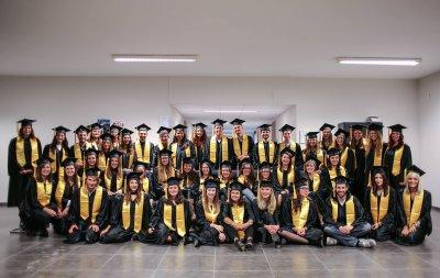 Cérémonie de remise des diplômes pour la section publicité