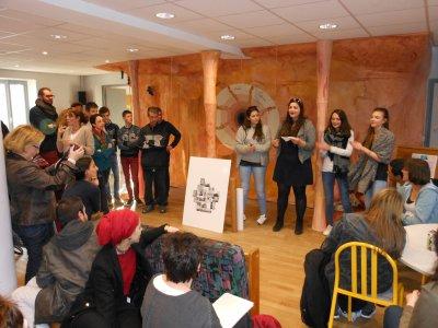 Les étudiant-e-s de la HELHa à Louvain-la-Neuve à la rencontre de l'Association Itinéraires Singuliers à Dijon