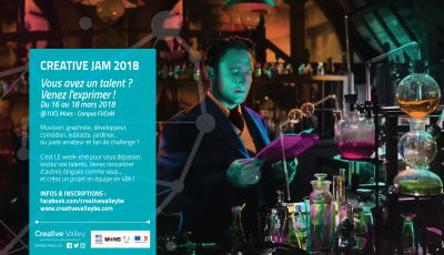 Creative Jam 2018 : du vendredi 16 au dimanche 18 mars