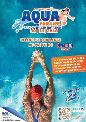 Viva for Life : Soutenez les étudiants du pédagogique des sites de Braine-Le-Comte et de Mons qui se jetteront à l'eau le 30 novembre !