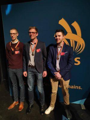 Antoine MARECHAL, bachelier automobile a obtenu la médaille d'or aux Skills Belgium