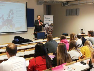 Sensibilisation en Assistant-e de Direction à Mons aux enjeux des élections européennes du 26 mai