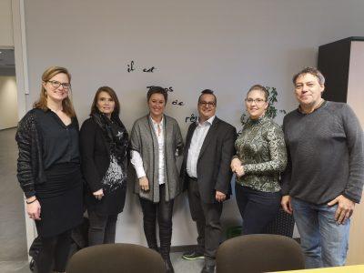 Semaine d'échanges fabuleuse entre le Cégep Montmorency de Laval au Québec et le département économique de Mons