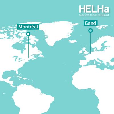 Collaboration de la HELHa La Louvière avec l'ITHQ de Montréal